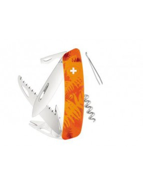 COLTELLO SWIZA TT05 TICK TOOL ORANGE FERN [C410 902060]