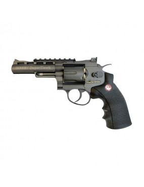 "RUGER SUPER HAWK 4 ""CO2 BLACK FULL METAL WITH RAIL [25778]"