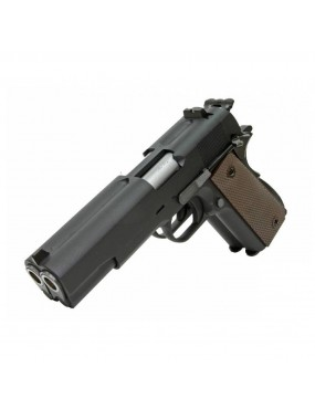 PISTOLA 1911 DOUBLE BARREL NERA GAS BB 6mm FUL METAL WE [7726]