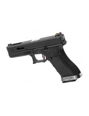 PISTOLA GAS G17 G-FORCE NERA CANNA NERA/SILVER WE [22274]