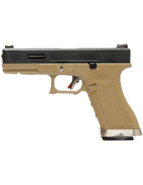 PISTOLA GAS G17 G-FORCE TAN CARRELLO NERO/SILVER WE [26029]