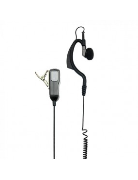 MICROPHONE WITH HEADSET MIDLAND MA 21-LK KENWOOD CONNECTION [C709.04]