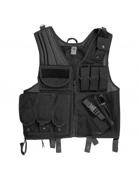 TACTICAL MESH AND CORDURA VEST WITH MAGAZINES AR 70/90 M16 [2ET03]