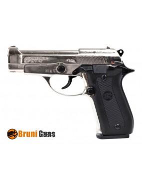 BRUNI BLANK GUN MODEL 84 9 MM NICKEL [BR-2700N]