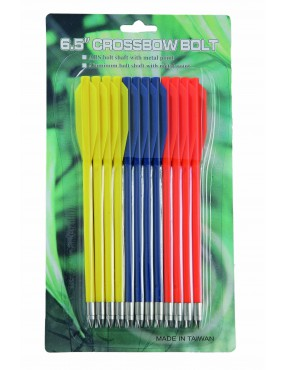 ARROWS IN ABS 16cm FOR CROSSBOW PISTOLS 12pcs [R10112]