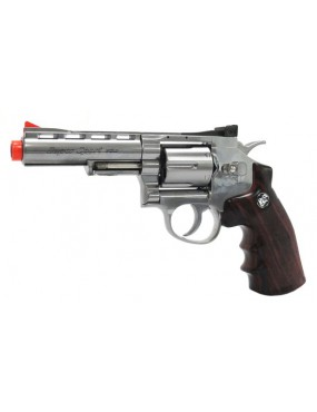 REVOLVER CO2 701 SILVER FULL METAL [C 701S]