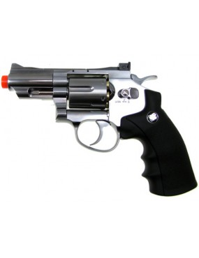 REVOLVER CO2 708 SILVER FULL METAL [C 708S]