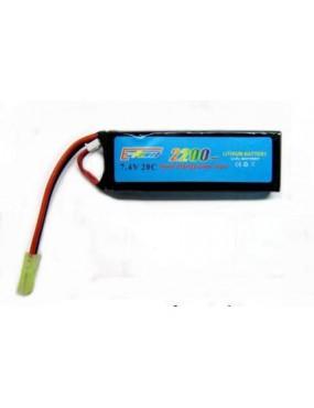 BATTERIA LIPO 7.4v X 2200 mAh STICK E-POWER [7.4x2200T]