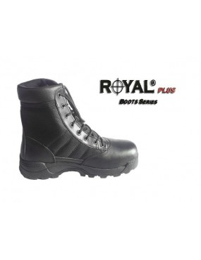 BLACK ECO LEATHER-CORDURA BOOTS WITH HIGH GRIP SIZE 44 [RP-BMB-44]