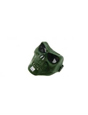 GREEN TACTICAL SKULL MASK IN TECHNOPOLYMER [KR004V]
