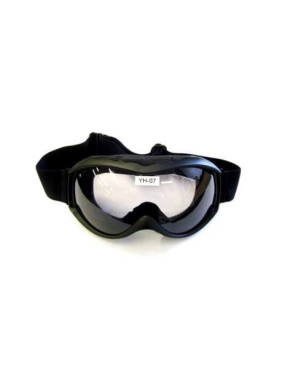 ROUND SOFT BLACK MASK WITH TRANSPARENT LENS [YH07]