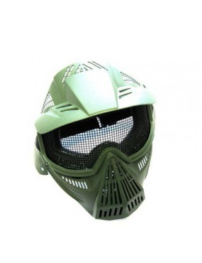 TACTICAL GREEN MESH FACIAL PROTECTION MASK [C007V]