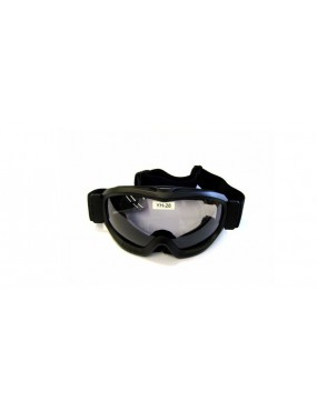 BLACK SNOW ROUND GOGGLE WITH NEUTRAL LENS [YH28]