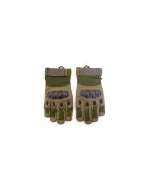 GREEN TACTICAL GLOVES WITH REINFORCED KNUCKLES SIZE XL [EV-G617VXL]