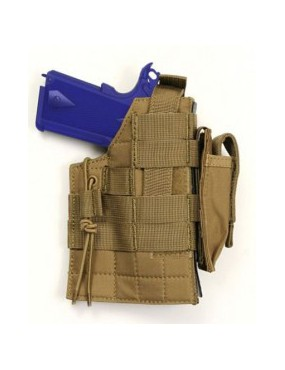 HOLSTER FOR BERETTA WITH SPRING ATTACHMENTS FOR RIGHT AND LEFT TAN...