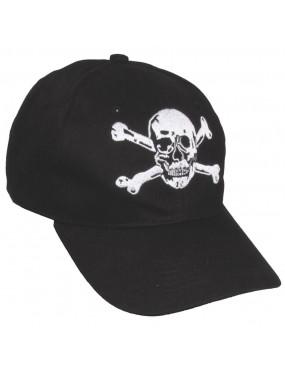 BLACK CAP WITH SKULL MFH [10383A]