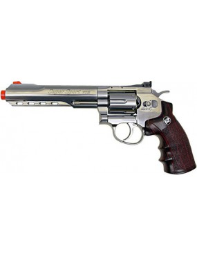 REVOLVER CO2  702 SILVER FULL METAL [C 702S]